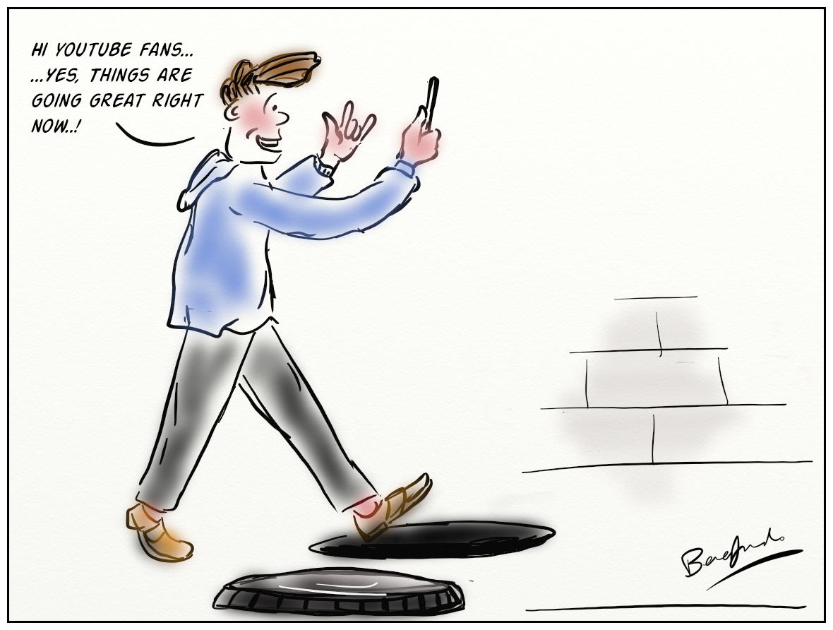technology cartoons vlogging slideshow