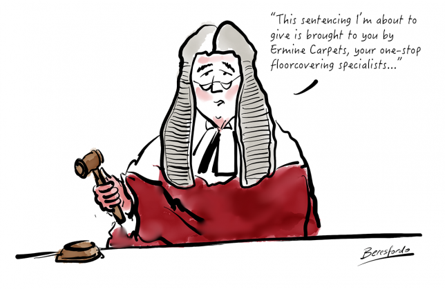 Cartoon about Judges need sponsorship