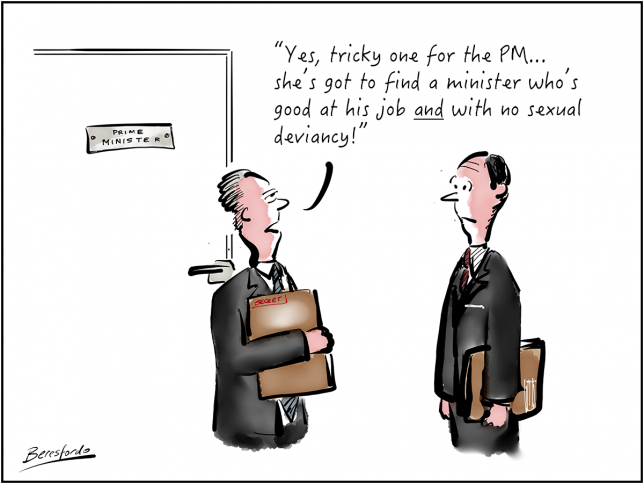 Cartoon about the PM choosing a new minister