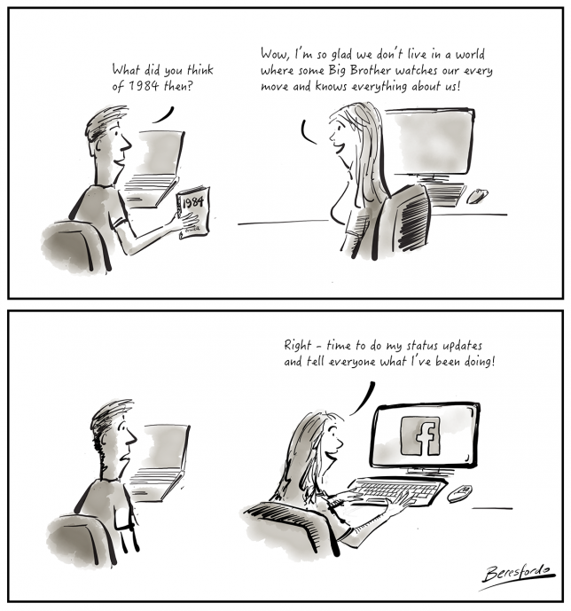 A cartoon about privacy on Facebook
