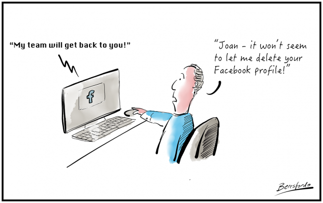 a cartoon about Facebook