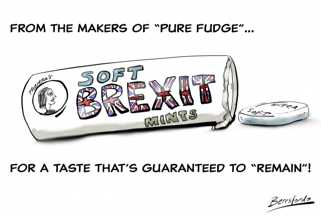 "Advert for ""Theresa's Soft Brexit Mints - for the taste that's bound to remain""!"
