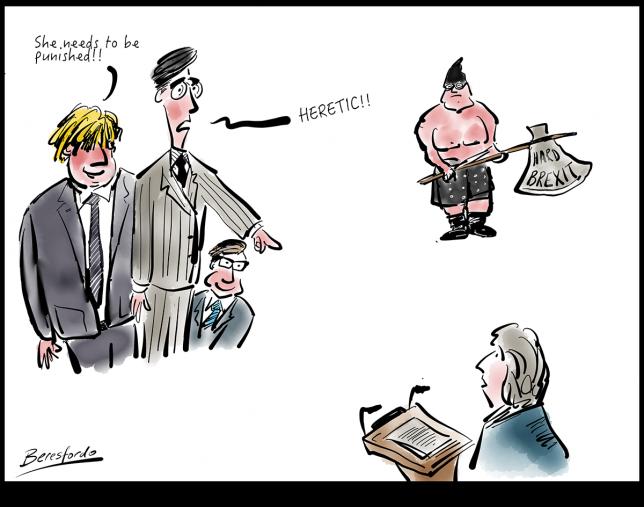Rees-Mogg accuses Theresa May of Heresy!